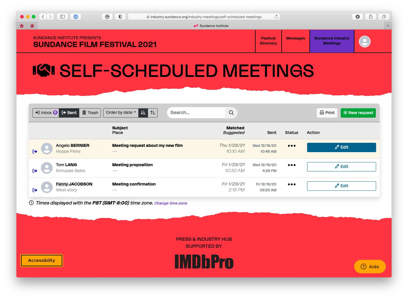 Rejeter, proposer un autre horaire ou tout simplement accepter la rencontre : aussi simple que cela.